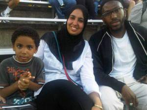 Daud and family bleachers