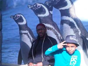 Daud and son penguins