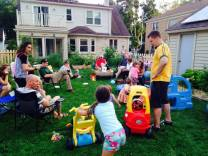 back yard toddler party