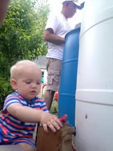 SLD and Bumpa Rain Barrel