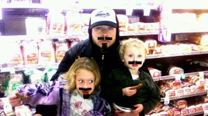Nick A Grocery Store Mustache Kids